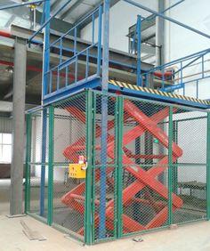 goods lift, cargo freight elevator, vertical lift platform, cargo ...