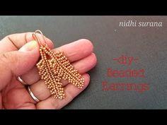 Cross stitch seed bead tutorial earrings miyuki bracelet p Beaded Earrings Patterns, Seed Bead Patterns, Bracelet Patterns, Beading Patterns, Diy Earrings, Art Patterns, Seed Bead Necklace, Seed Bead Bracelets, Seed Bead Jewelry