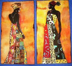 Africanas en seda