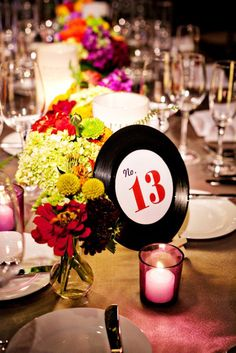16 Table Number Ideas: records