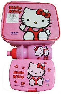 Hello kitty  lunch set- matching  lunch bag d15323f0f9756