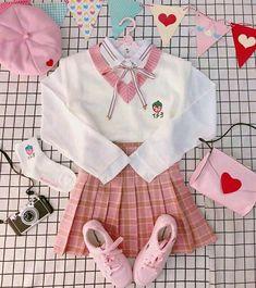 Daddykink - Photos - inocent and hot Pastel Outfit, Pink Outfits, Anime Outfits, Pretty Outfits, Cool Outfits, Harajuku Fashion, Kawaii Fashion, Lolita Fashion, Cute Fashion
