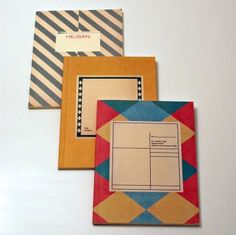 O-Check Design Vintage Scandinavian Notebooks