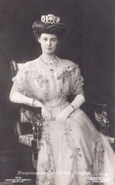 Crownprincess Cecilie of Prussia, neé Duchess of Mecklenburg- Schwerin.