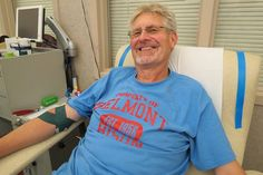 Dayton donor Tom Peters made his milestone 150th lifetime blood donation Oct. 16 at the downtown Dayton Community Blood Center (CBC).  He's a special education teacher at Belmont High School where he enthusiastically recruits his fellow faculty members to support the campus blood drives.