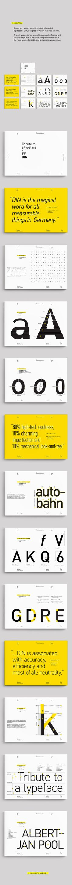 FF DIN - Tribute to a typeface on Behance