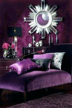 Black and Purple Bedroom Decorating Idea. Black and Purple Bedroom Decorating Idea. Pin On Bedroom Design and Style Purple Bedroom Design, Purple Interior, Bedroom Colors, Royal Purple Bedrooms, Purple Black Bedroom, Romantic Purple Bedroom, Dark Bedrooms, Purple Home Decor, Luxury Bedrooms
