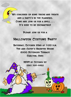 Party Halloween Party Invitation Wording To Bring More Colors On