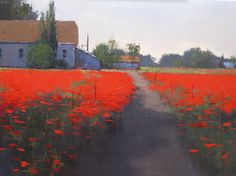 Raymarart Painting Competition Finalist.  Poppy Farm  by Romona Youngquist   Oil 30 x 40