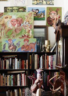 Mirka Mora - The Design Files Australian Painters, Australian Artists, Bohemian Interior, The Design Files, Art For Art Sake, Art Studios, Art Dolls, Contemporary Art, Illustration Art