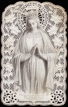 Here are some beautiful images of Our Blessed Mother, in belated honor of Our Lady of the Expectation Religious Images, Religious Icons, Religious Art, Blessed Mother Mary, Blessed Virgin Mary, Madonna, Vintage Holy Cards, Religion Catolica, Queen Of Heaven