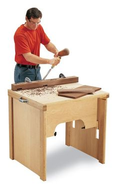 Suitcase workbench from single sheet of ply