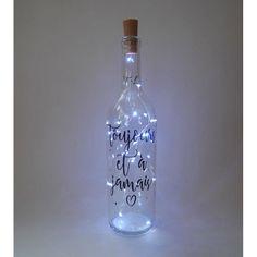Light up bottle decorative bottles wine bottles sugar