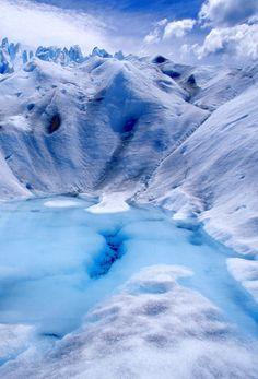 Perito Moreno Glacier, Argentina.  #his_blue