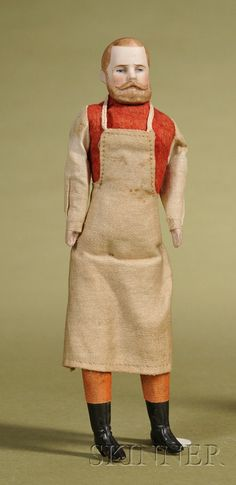 Dollhouse Doll Gentleman with Molded Beard | Sale Number 2476, Lot Number 150 | Skinner Auctioneers