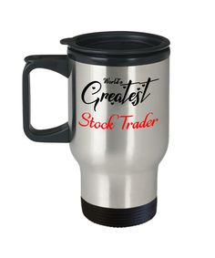 worlds greatest stock trader travel mug with lid unique novelty birthday christmas gifts coffee cup gifts