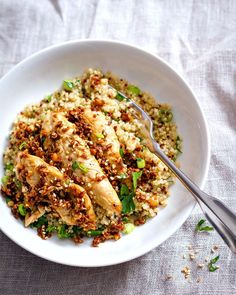 Easy Dinner Ideas for Two - Garlic Lime Chicken Tenders and Quinoa - Quick, Fast and Simple Recipes to Make for Two People - Freeze and Make Ahead Dinner Recipe Tips for Best Weeknight Dinners - Chicken, Fish, Vegetable, No Bake and Vegetarian Options - Crockpot, Microwave, Healthy, Lowfat Options http://diyjoy.com/easy-dinners-for-two