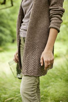 This worsted cardi would go with so many things!
