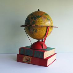 Replogle Map Game Metal Globe circa 1949