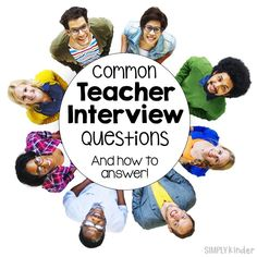 Common Teacher Interview Questions and how to answer them! Teaching Interview Outfit, Teacher Job Interview, Teaching Career, Teacher Interviews, Teaching Resume, Job Interview Tips, Teaching Portfolio, Elementary Teacher, Jobs For Teachers