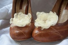 Shop for shoe clips on Etsy, the place to express your creativity through the buying and selling of handmade and vintage goods. Ballet Shoes, Dance Shoes, Ivory Shoes, Shoe Clips, Lace Flowers, Textiles, Footwear, Change, Handmade