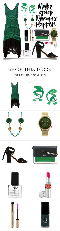 """""""Make your dreams happen"""" by camry-brynn ❤ liked on Polyvore featuring Proenza Schouler, Rosie Assoulin, Dolce&Gabbana, Komono, Aquazzura, DKNY, ncLA, Yves Saint Laurent, Christian Dior and JINsoon"""