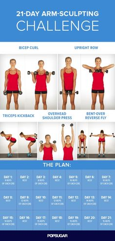 Sculpt and Strengthen Your Arms With This 3-Week Challenge #weightlossfast