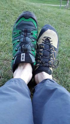 The joy of climbing shoes