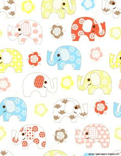 abstract-fl-and-baby-elephant-pattern-royalty-free-cliparts.jpg (957×1235)
