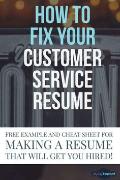 The customer service industry is flooded with job applicants, so if you want to work in this field, you need a resume that stands out from the crowd. One of our recent clients has graciously… Customer Service Resume Examples, Resume Writing Examples, Free Resume Examples, Resume Writing Services, Manager Resume, Basic Resume, Resume Tips, Professional Resume, Visual Resume