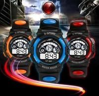 Waterproof Mens Boy's Digital LED Quartz Alarm Date Sports Wrist Watch