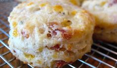 Bacon makes these cheese biscuits even tastier so you'll want to double up the batch because they'll go fast.