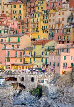 Beautiful Colors of Manarola, Cinque Terre, Italy