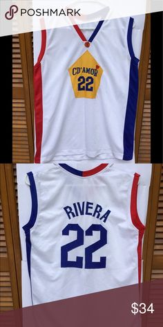 356fa5df0 Vintage basketball jersey  22 size L Great old school basketball jersey size  large Preowned see