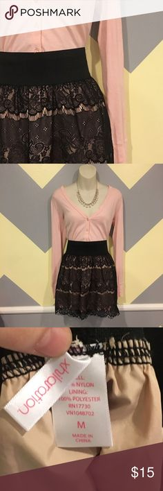 Black and Blush Lace Skirt - Xhilaration Smoke Free. Offers always welcome. Questions answered within 24                hours.💕 Xhilaration Skirts Mini