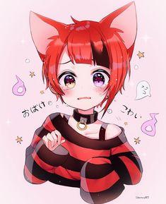 Boy Anime Eyes, Wolf Boy Anime, Anime Demon Boy, Neko Boy, Anime Girl Neko, Me Anime, Anime Guys, Neko Kawaii, K Project Anime