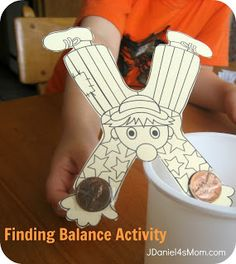 "Science Activity, ""Finding Balance"" (free printable & directions from Discover Primary Science via JDaniel4's  Mom)"