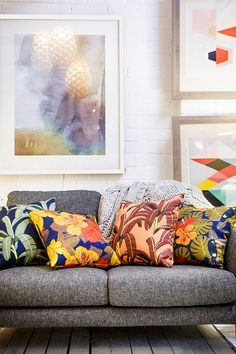 We love discovering and supporting new talent and Megan Isabella is one talented emerging artist. Her debut collection of cushions are the perfect mix of retro botanical and we love her mid-century colour palette. Read her story and check out her fab new cushions now!