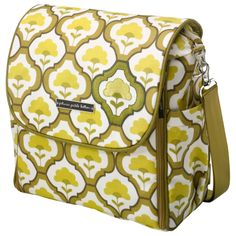 NEW! Petunia Pickle Bottom Diaper Bag Boxy Backpack Glazed Lights of Lisbon. Found at Layla Grayce.