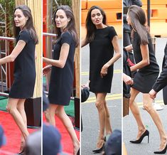 Angelina Jolie Looks Super Skinny At Kung Fu Panda 3 Premiere - Online - - Angelina Jolie Looks Super Skinny At Kung Fu Panda 3 Premiere – Online – The Effecti - Angelina Jolie Skinny, Angelina Jolie Style, Kung Fu Panda 3, Fall Fashion Outfits, Autumn Fashion, Brown Blonde Hair, Hooded Eyes, Grunge Hair, Anorexia
