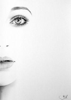 Kate Bush Minimalismus Bleistift Zeichnung Porträtgemälde