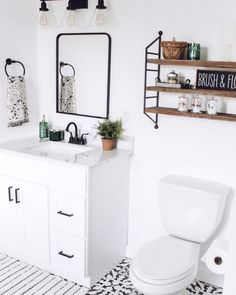 A fresh, bright white paint never goes out of style! Try our Fresh Kicks if you want to achieve the perfect all-white look in your bathroom! Guest Bathrooms, Bathroom Renos, Bathroom Interior, Small Bathroom, Bathroom Ideas, Bathroom Inspo, Best Bathroom Paint Colors, White Bathroom Paint, Wooden Bathroom