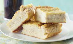 Brunch: Cheese Blintz Casserole w/ Blueberry Sauce