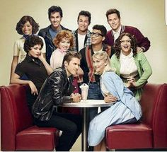 Julianne Hough and the cast of Grease Live.
