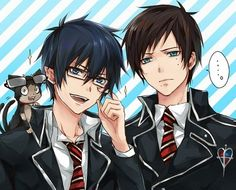 Rin is like:I'm gonna just try on your glasses. And to be honest he doesn't look that bad in them xD