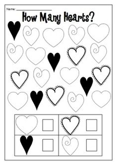 How Many Hearts? - Math Counting Activities