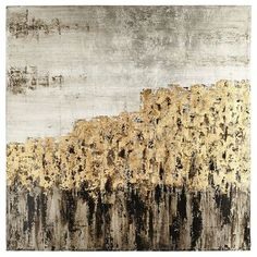 "Though we've titled it ""Unassuming,"" our remarkable, hand-painted canvas will have quite an impact on your living, dining or bedroom areas. With its interplay of charcoal, gold and silver, this artwork is ready to bring a dramatic counterpoint  to modern and traditional styles alike."