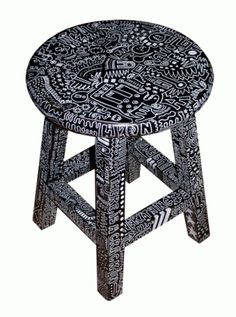 """Love this """"doodle stool""""... wow, that's fun to say. I might have to make one just so I can ask Jeeves to bring me my doodle stool."""