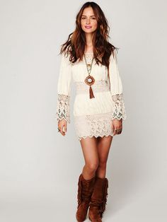 Free People Romantic Insets Dress