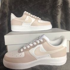 Nike Shoes   Brown Color Block Air Force Ones   Poshmark Dr Shoes, Cute Nike Shoes, Hype Shoes, Me Too Shoes, Jordan Shoes Girls, Girls Shoes, Nike Shoes Air Force, Aesthetic Shoes, Fresh Shoes